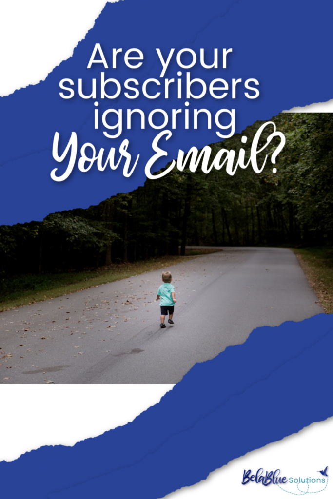 Subscribers ignoring your email? Bela Blue Solutions can help!