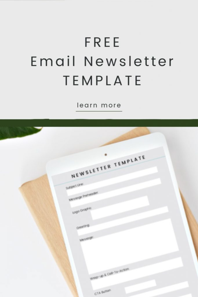 Getting started with email for your business? Not sure what to say to your email contact list? Download free business email templates and get started today! email, business email, business newsletter, how to create a newsletter, newsletter design