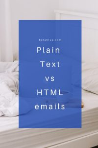 I love answering questions about email marketing best practices. I have gotten a few recently about plain text emails vs HTML and formatted template emails. Learn more!