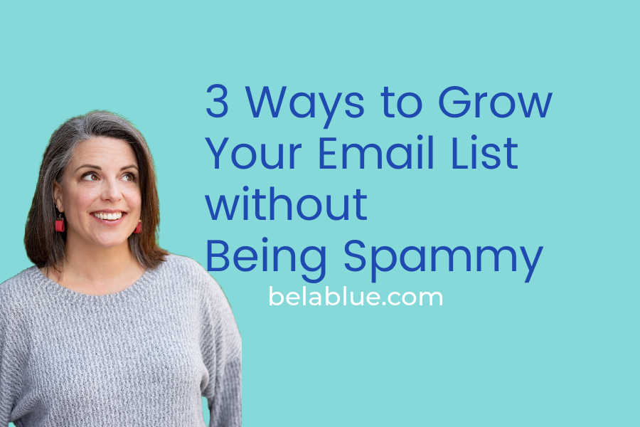 Need some advice to grow your email list with quality leads and not be spammy? Check out this post with some straightforward advice to keep you out of trouble!