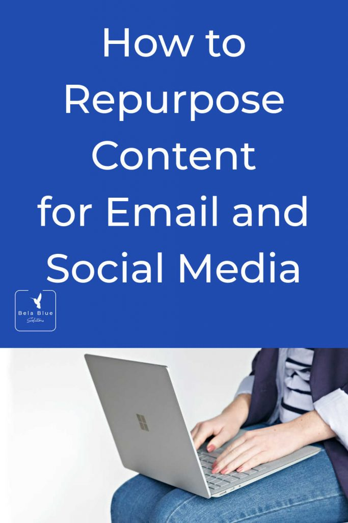 Stop! You do not need to create new content from scratch everytime you write an email, create a post, or promote yourself. Learn to repurpose content and save time.